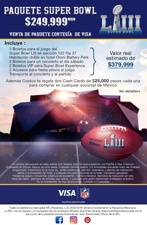 Costco Black Friday : Paquete Super Bowl