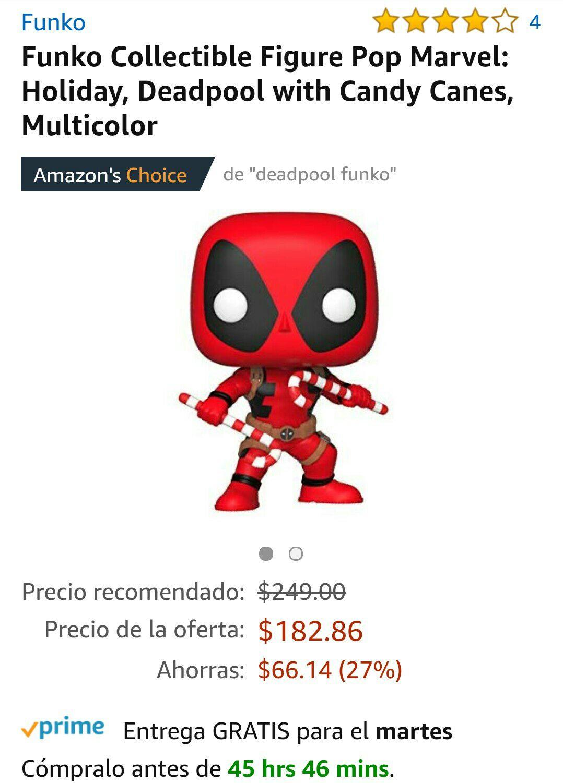 Amazon: Funko Pop Deadpool Navideño