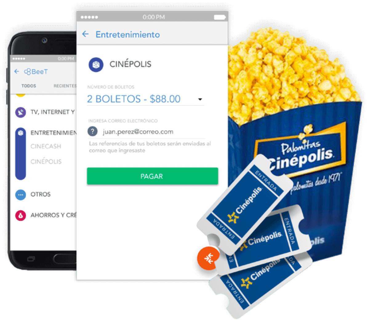 Cinepolis: Paga con transfer y obtén boleto de lunes a domingo a precio especial.