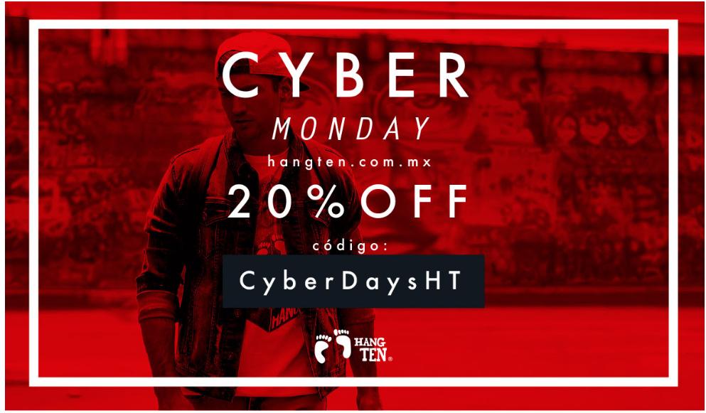 Cyber Days en Hang ten: cupón del 20% de descuento