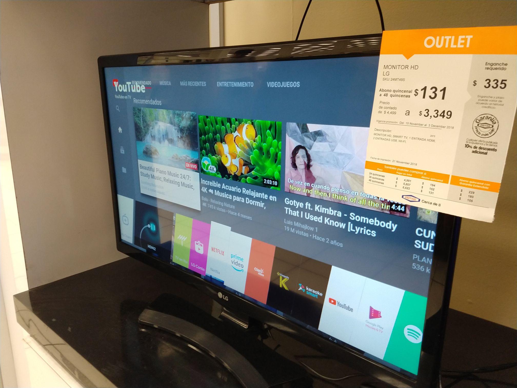 FAMSA: 2 en 1 Monitor y SmartTV de 24 pulgadas LG