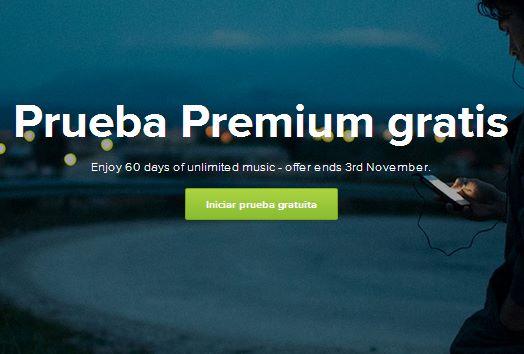 Spotify: 60 días gratis de servicio Premium