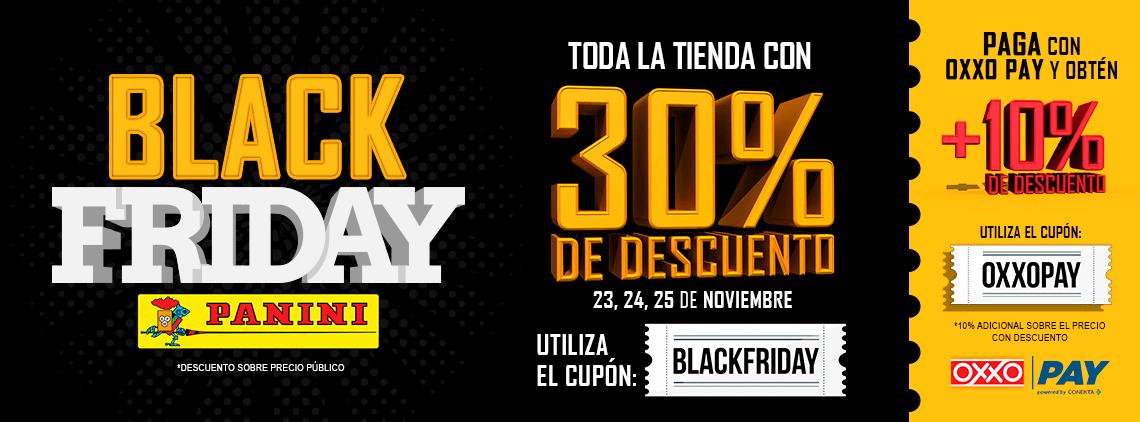 Panini: 30% black friday + 10% de descuento pagando en oxxo