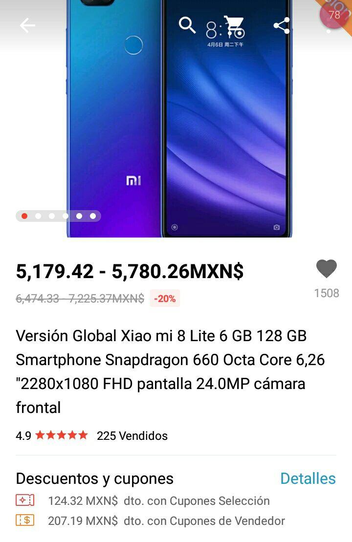 Global 8 Version Aliexpress Xiaomi Lite Mi8Mi rCWdBeox
