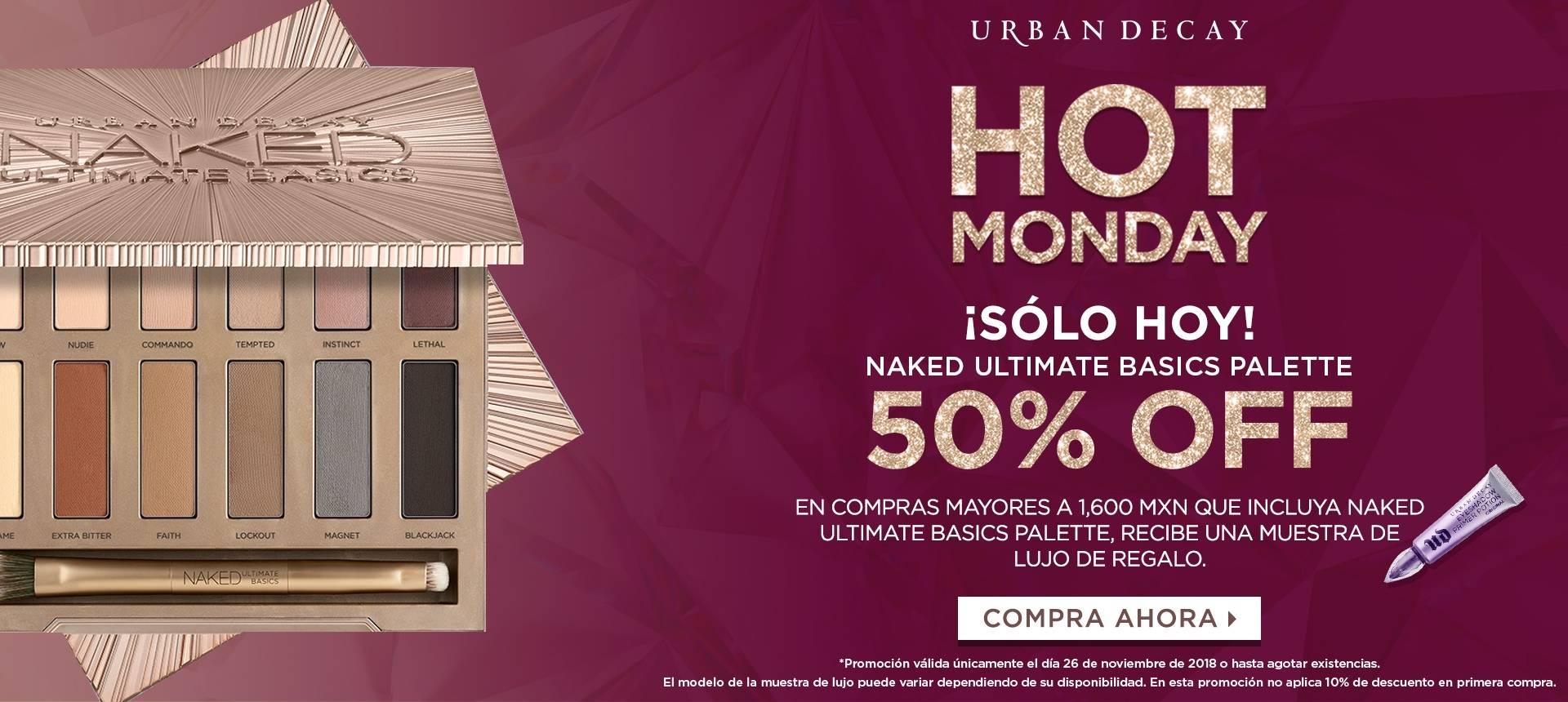 Cyber Monday en Urban decay: 50% en la paleta de sombras naked ultimate basics