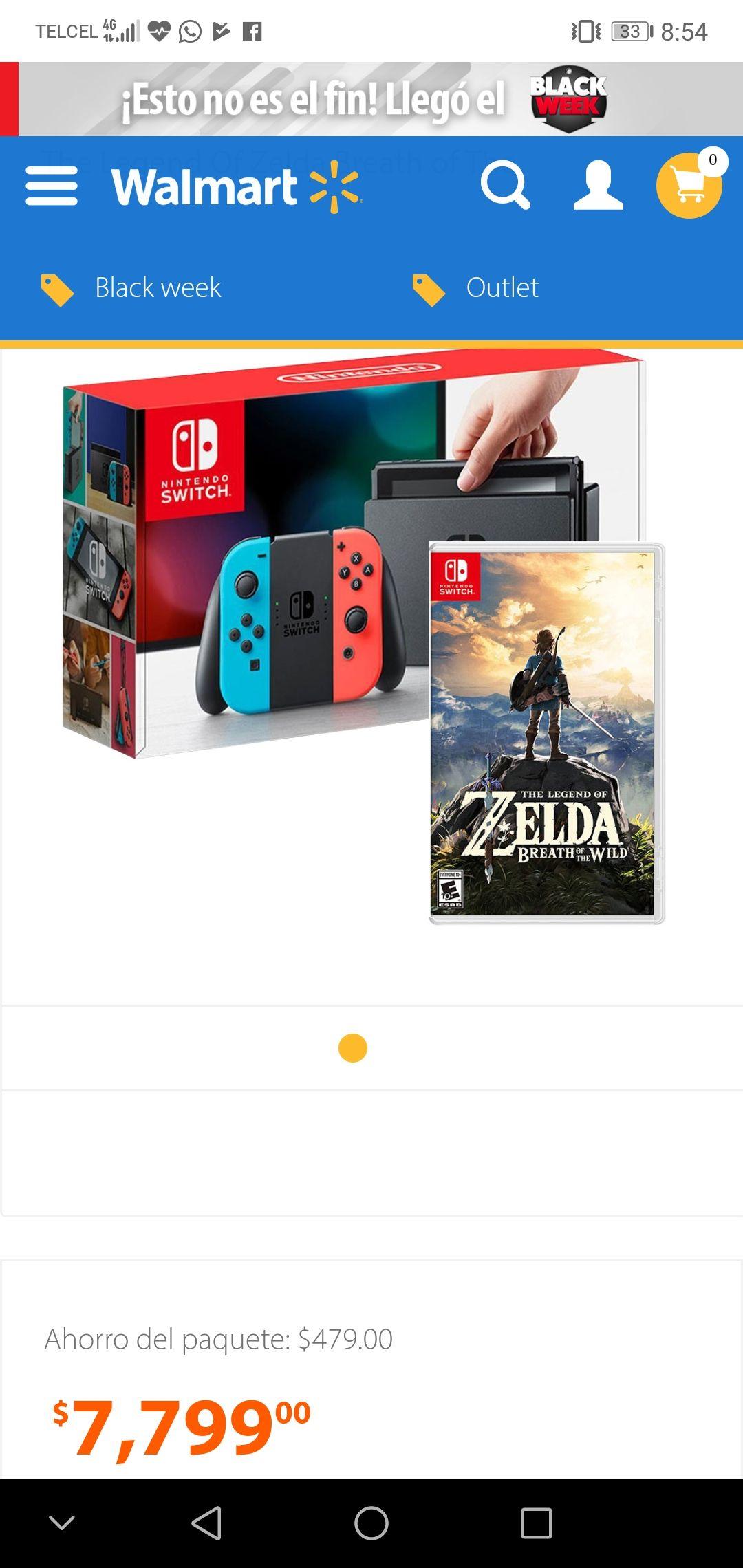 Cyber Monday en Walmart: Nintendo switch + un juego a 18 MSI
