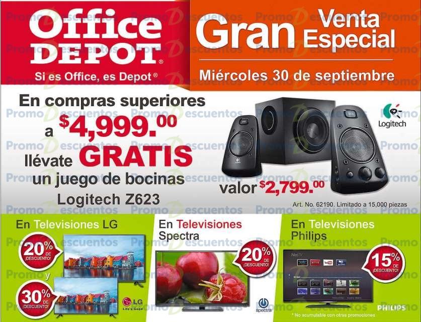 Venta especial Office Depot septiembre 30