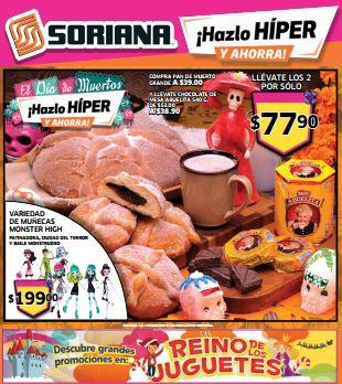 Folleto de ofertas Soriana del 1 al 8 de noviembre (incluye 3x2 en pañales)