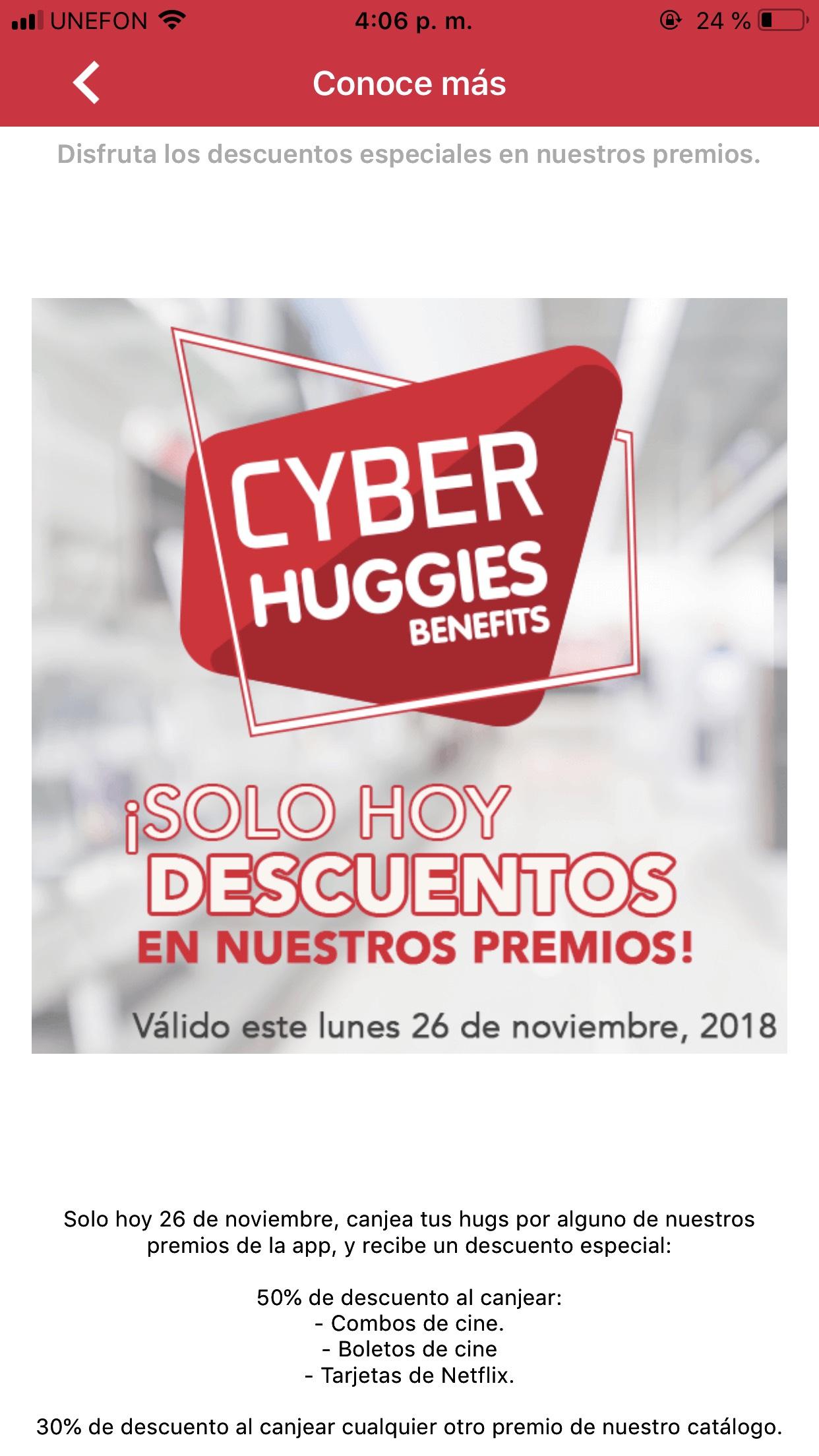 Cyber Monday en Huggies Benefits: hasta el 50% de descuento al canjear huggs