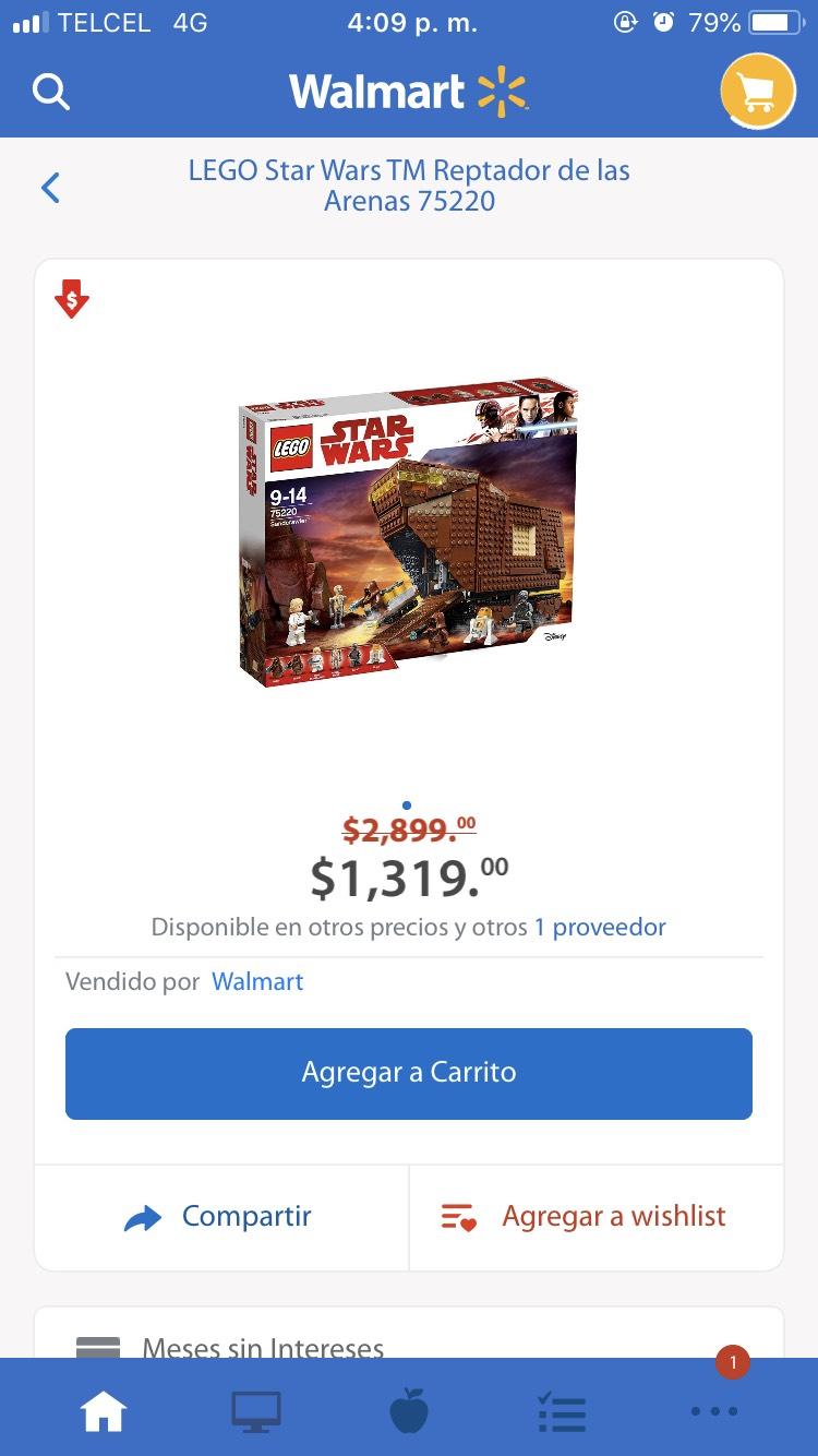 Cyber Monday Walmart: Sandcrawler lego de Star Wars
