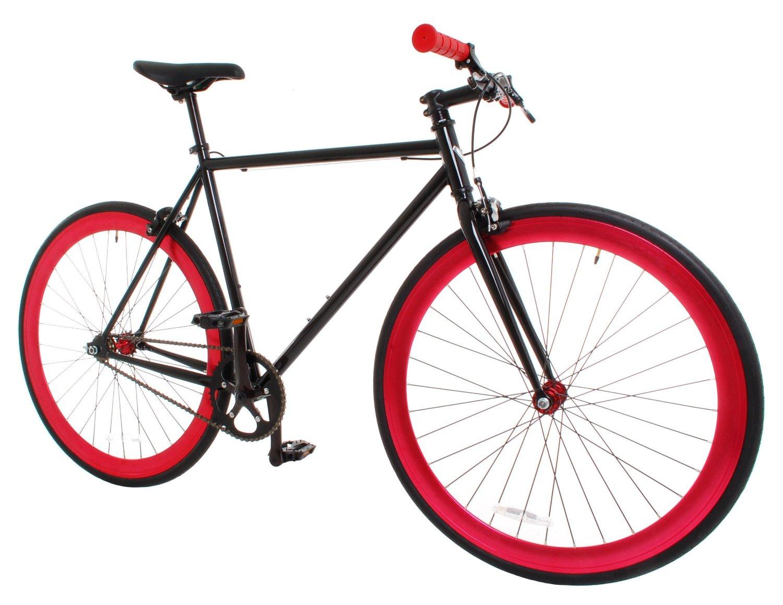 AMAZON: Vilano Rampage Fixed Gear Fixie Single Speed Road Bike, Black/Red, Large/58cm
