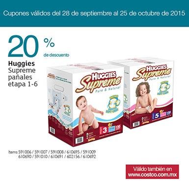 Costco: 20% de Descuento en pañales Huggies Supreme (+ posible ahorro extra con cupón)