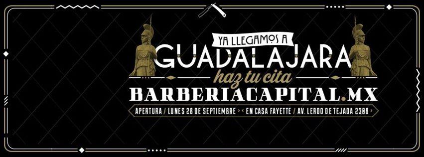Barberia Capital GDL te regala tu segunda visita al agendar esta semana.