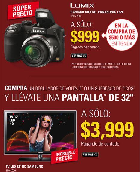 RadioShack: cámara Panasonic LZ20 $999 comprando $500 (regular $3,499), Ferrari RC $399 y +