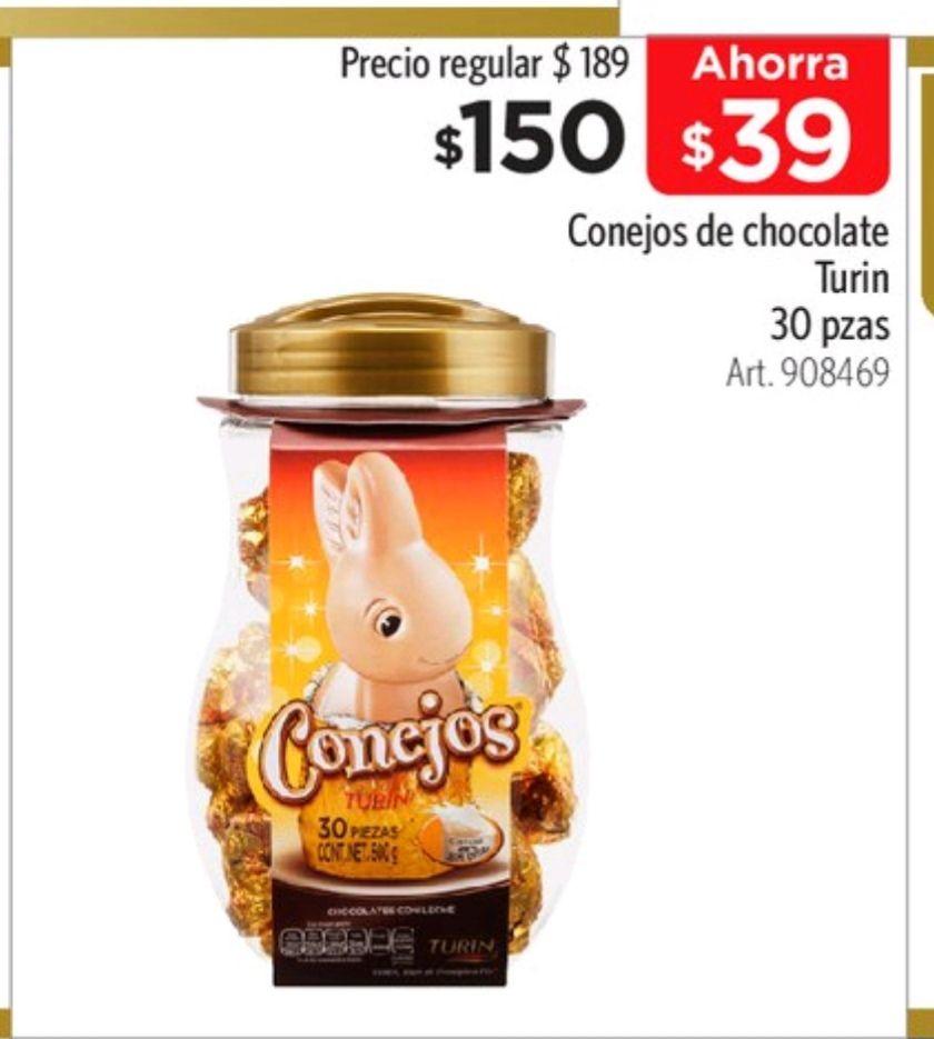 Sam's Club: chocolates Turín conejito, vitrolero