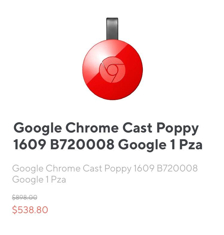 Rappi: Google Chrome Cast Poppy