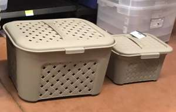 Walmart: Cajas de plástico con tapa