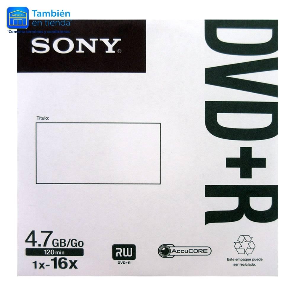 Walmart Online - Disco DVD-R Sony grabable 120 min 4.7 GB