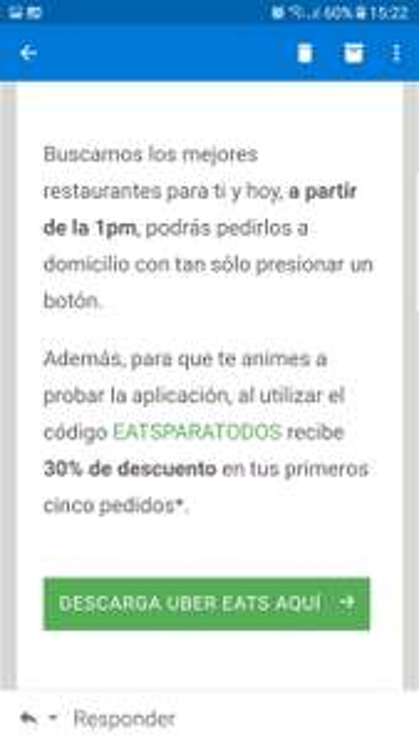 Uber Eats llega a guanajuato y ofrece 30% de descuento