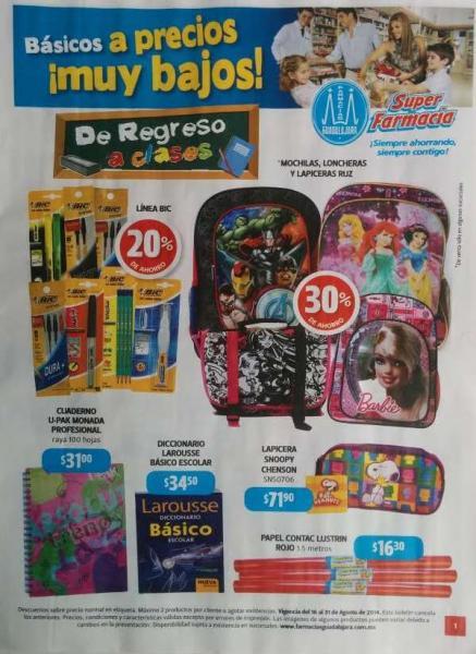 Folleto de ofertas en Farmacias Guadalajara del 16 al 31 de agosto