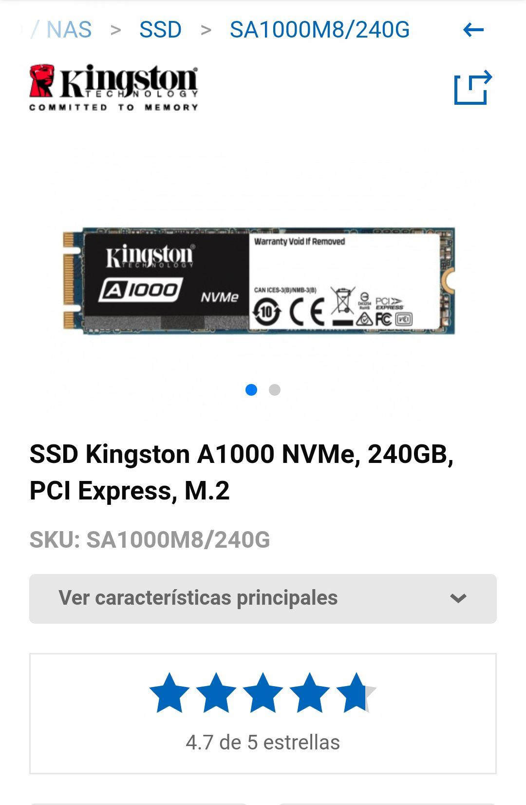 Cyberpuerta: SSD KINGSTON A1000 240GB