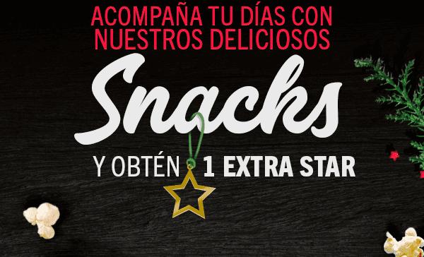 Starbucks: Estrella extra con los snacks