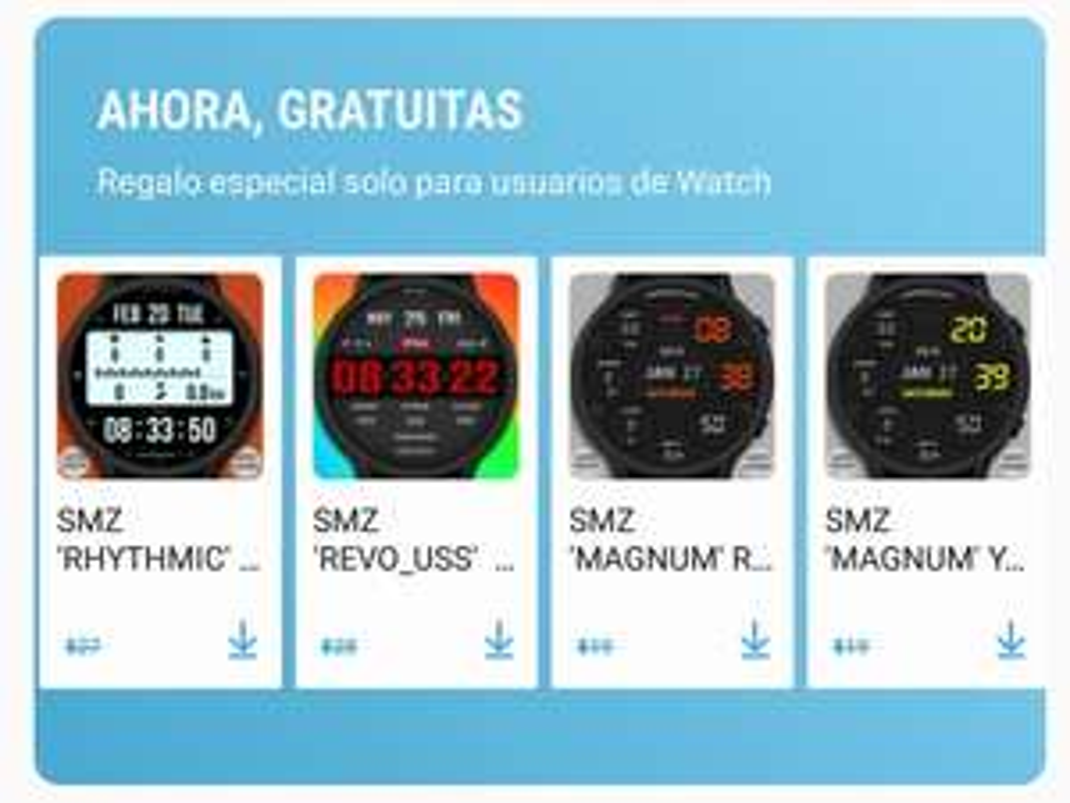 Galaxy Apps: Carátulas SMZ para Galaxy Watch gratis