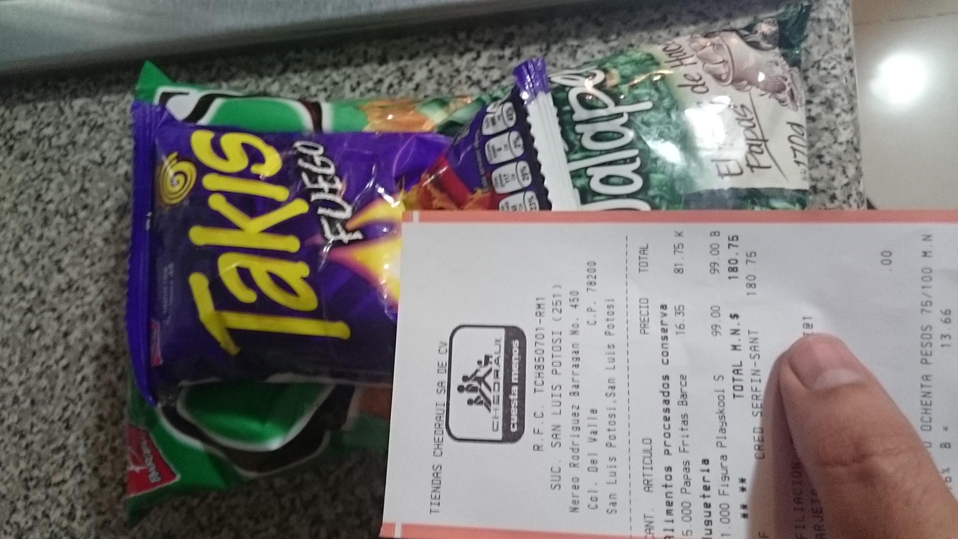 Chedraui: papas Chips de 170grs Jalapeño a $16.35