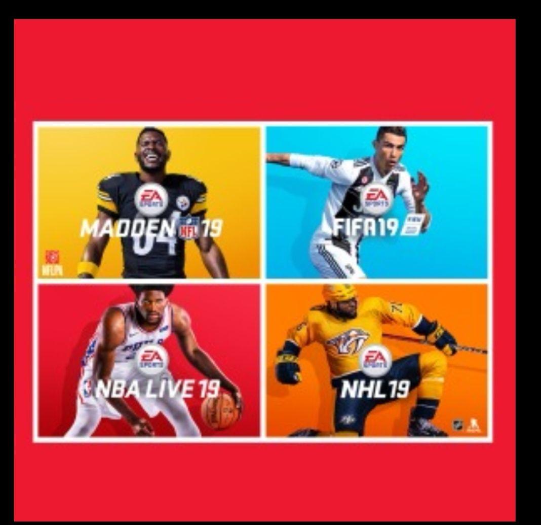 Bundle EA sports: FIFA, NFL, NBA y NHL 2019 por 2200