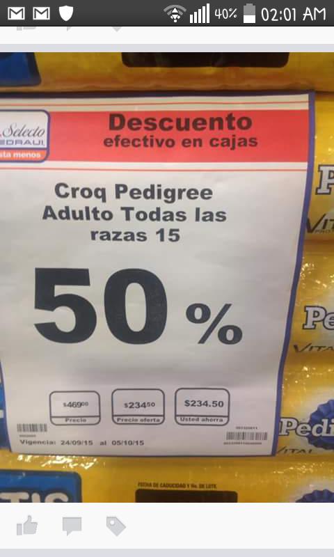 Chedraui: 50% de descuento en croquetas Pedigree adulto