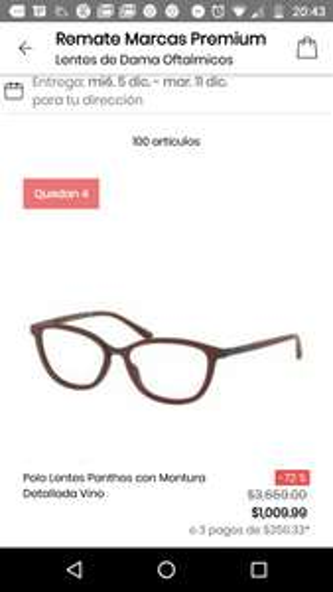 Privalia: Varios lentes en rebaja