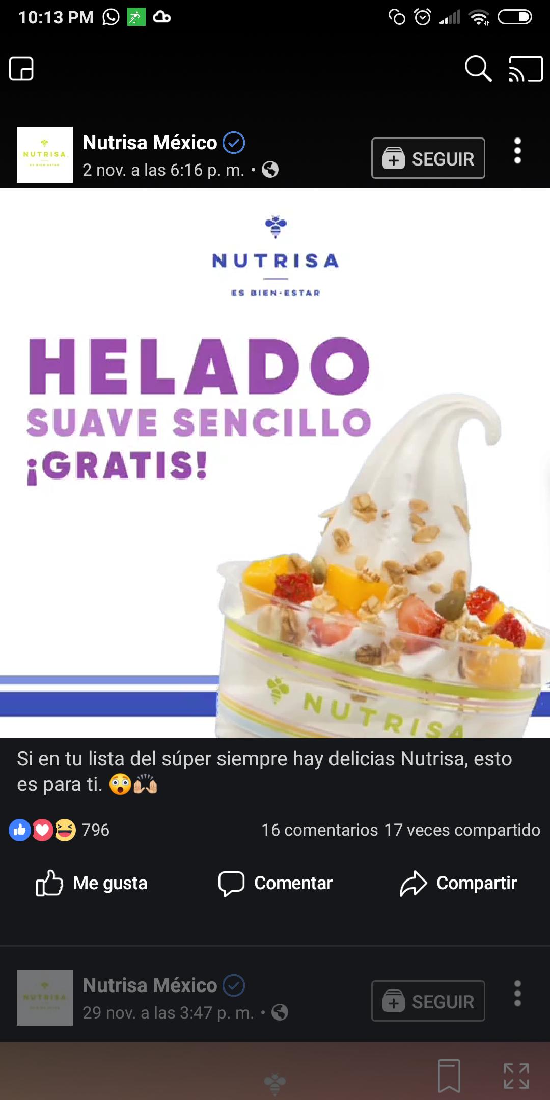 Nutrisa: Compra dos productos Nutrisa en el super y llévate un helado suave sencillo gratis