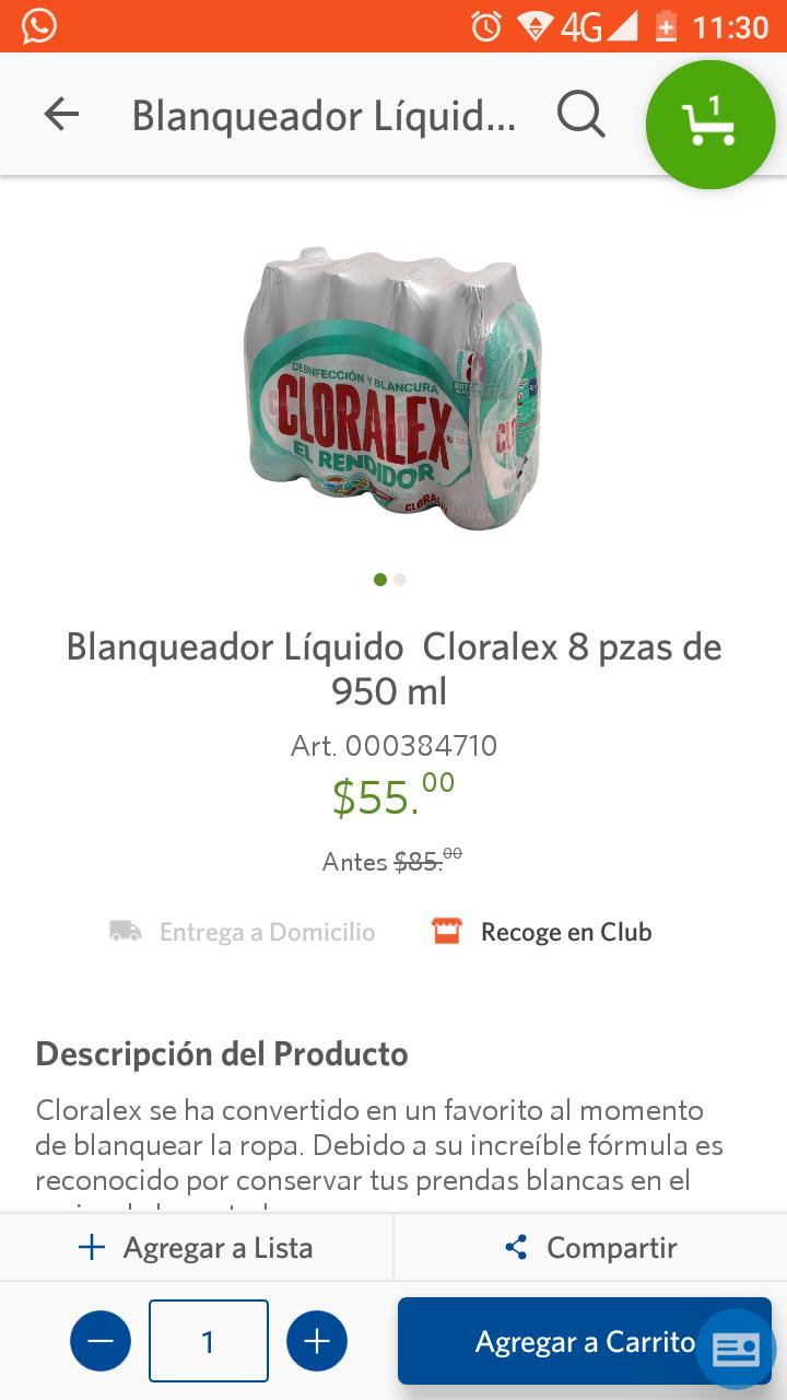 Sam's Club: Cloralex $6.87