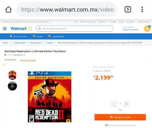 Walmart: Red Dead Redemption 2 Ultimate Edition
