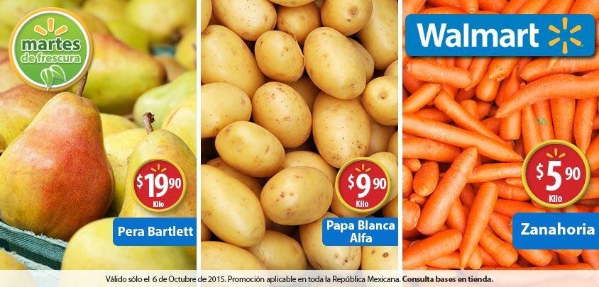 Martes de frescura en Walmart octubre 6: Zanahoria a $5.90 el kilo y más