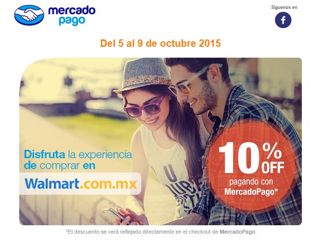 Walmart: 10% de descuento pagando con Mercadopago