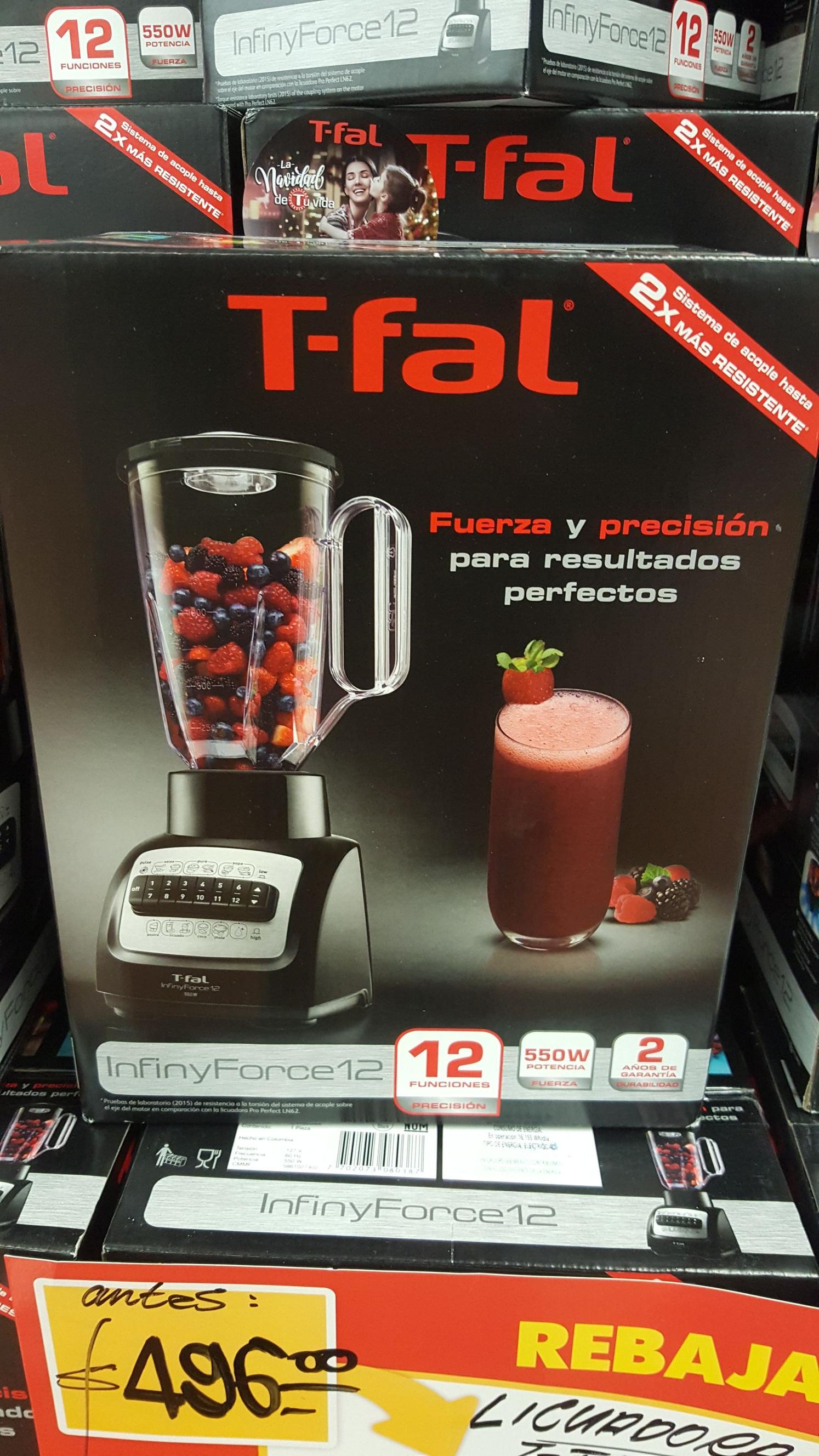 Walmart buenavista: Licuadora Tfal infiny force 12