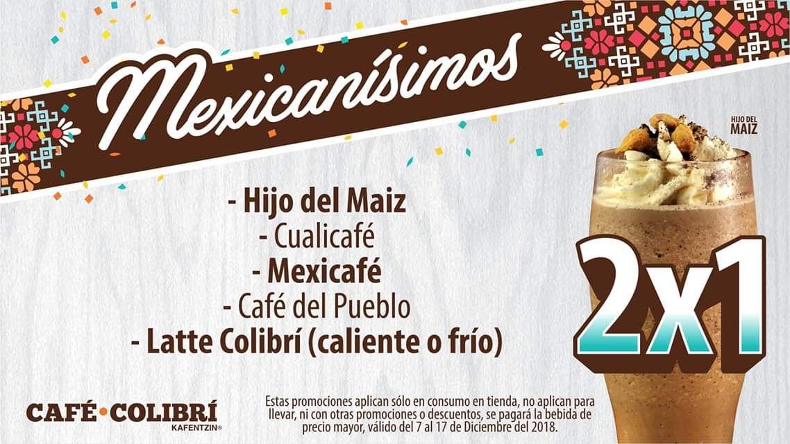 Café Colibri San Manuel Puebla: 2x1 en bebidas mexicanas + café del pueblo gratis en la primera compra