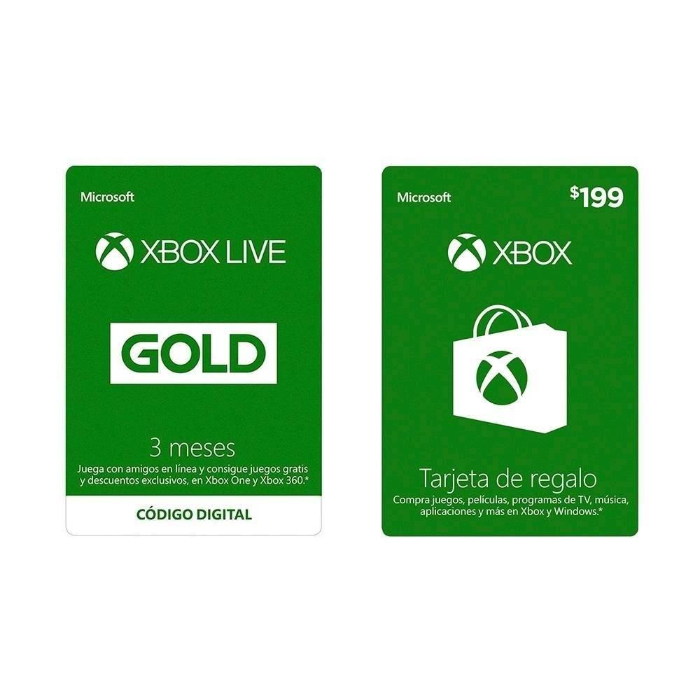 Walmart: Tarjeta Xbox Live Gold 3 Meses + 199 pesos Xbox Store de regalo del 9 al 22 de diciembre