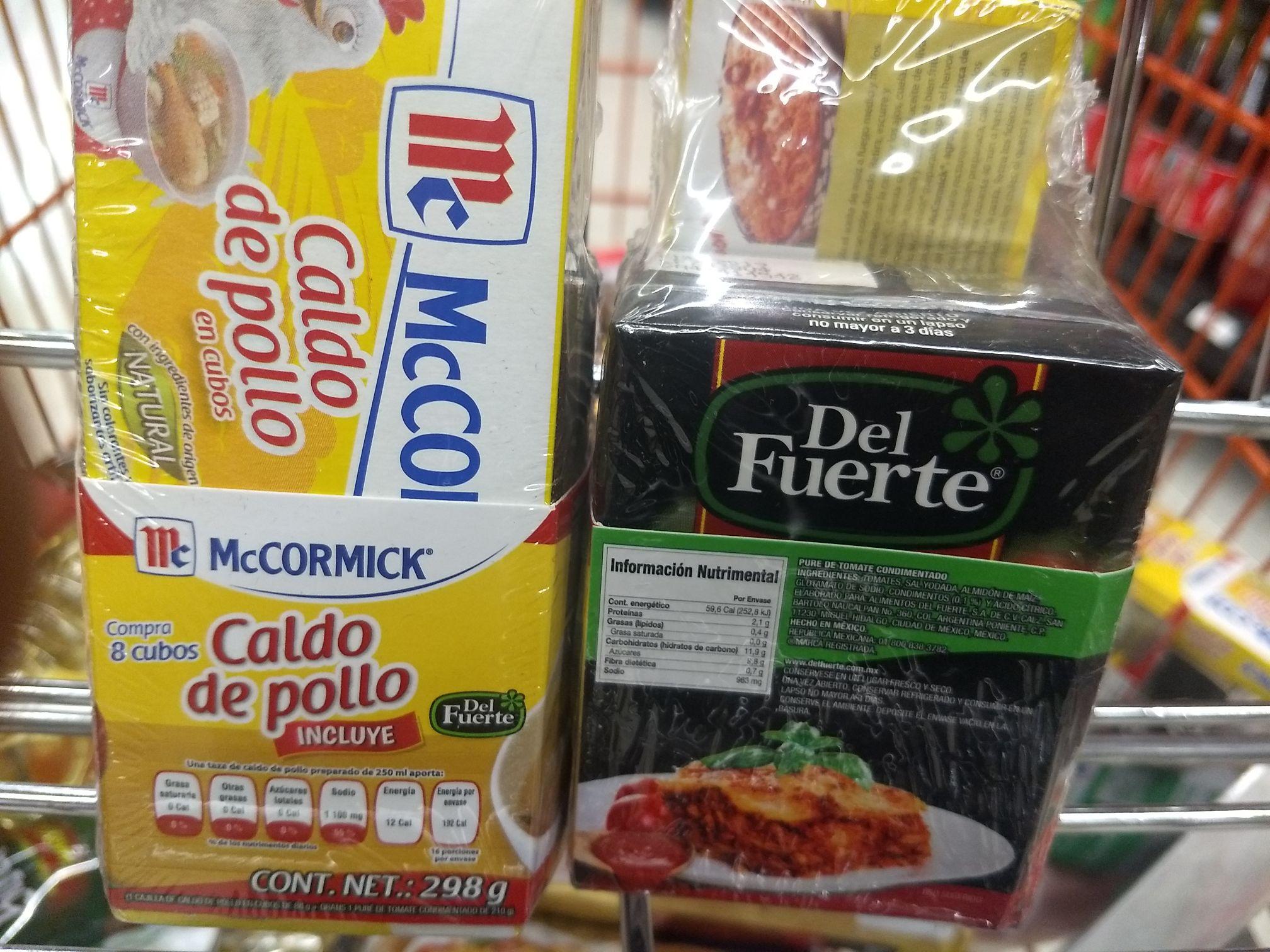 Chedraui Mexico-Tepozán: Oferta Armada de 8 Cubos de Pollo Mccormick + Caldillo Tomate de 210gr