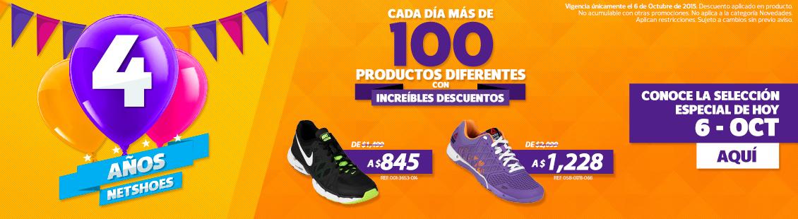 Netshoes 4o. aniversario, articulos con descuento cada dia (lacoste)