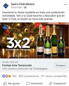 Sam's Club:  3x2 en Champagne