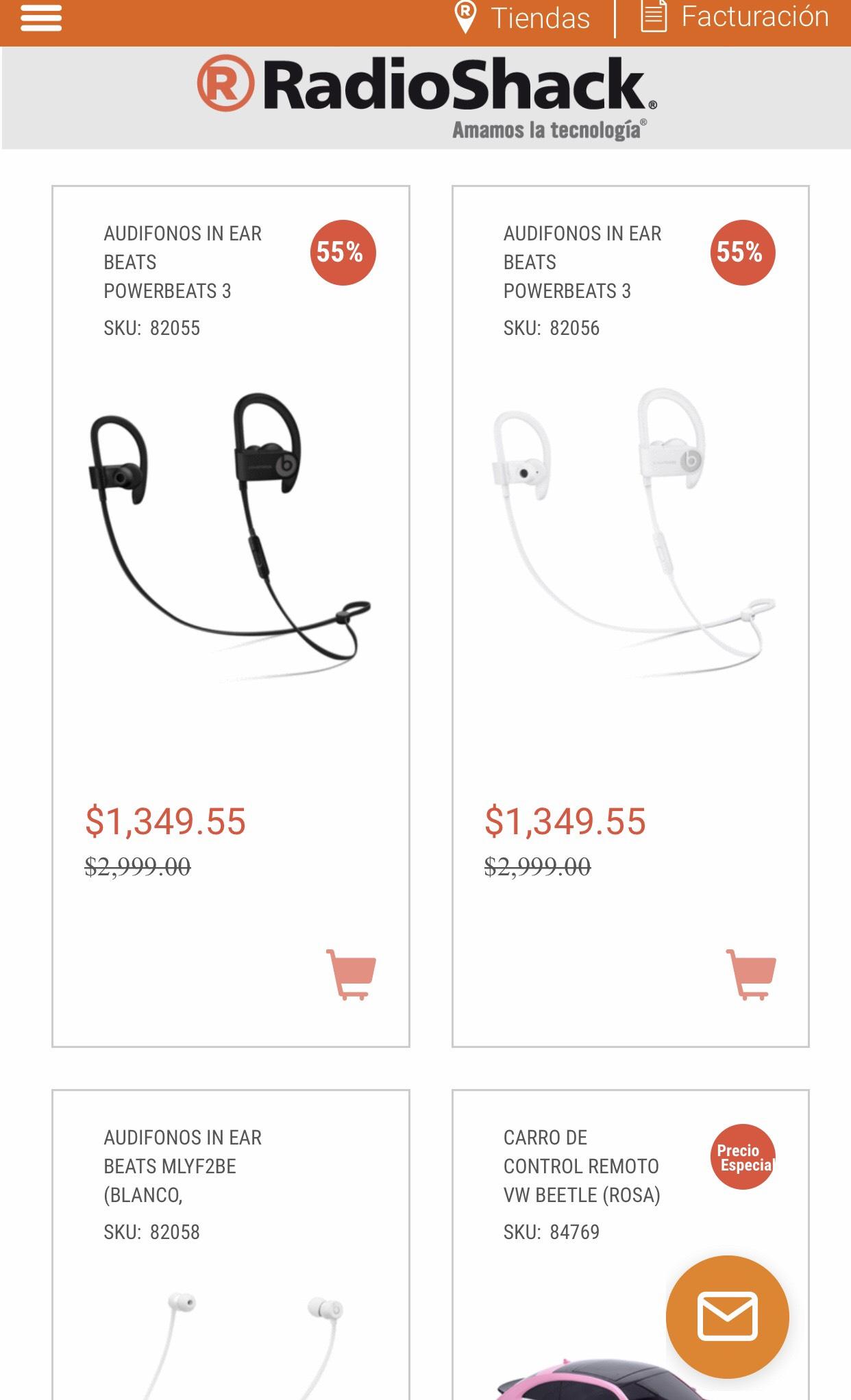 RadioShack: 55% de descuento en Audífonos Beats Bluetooth