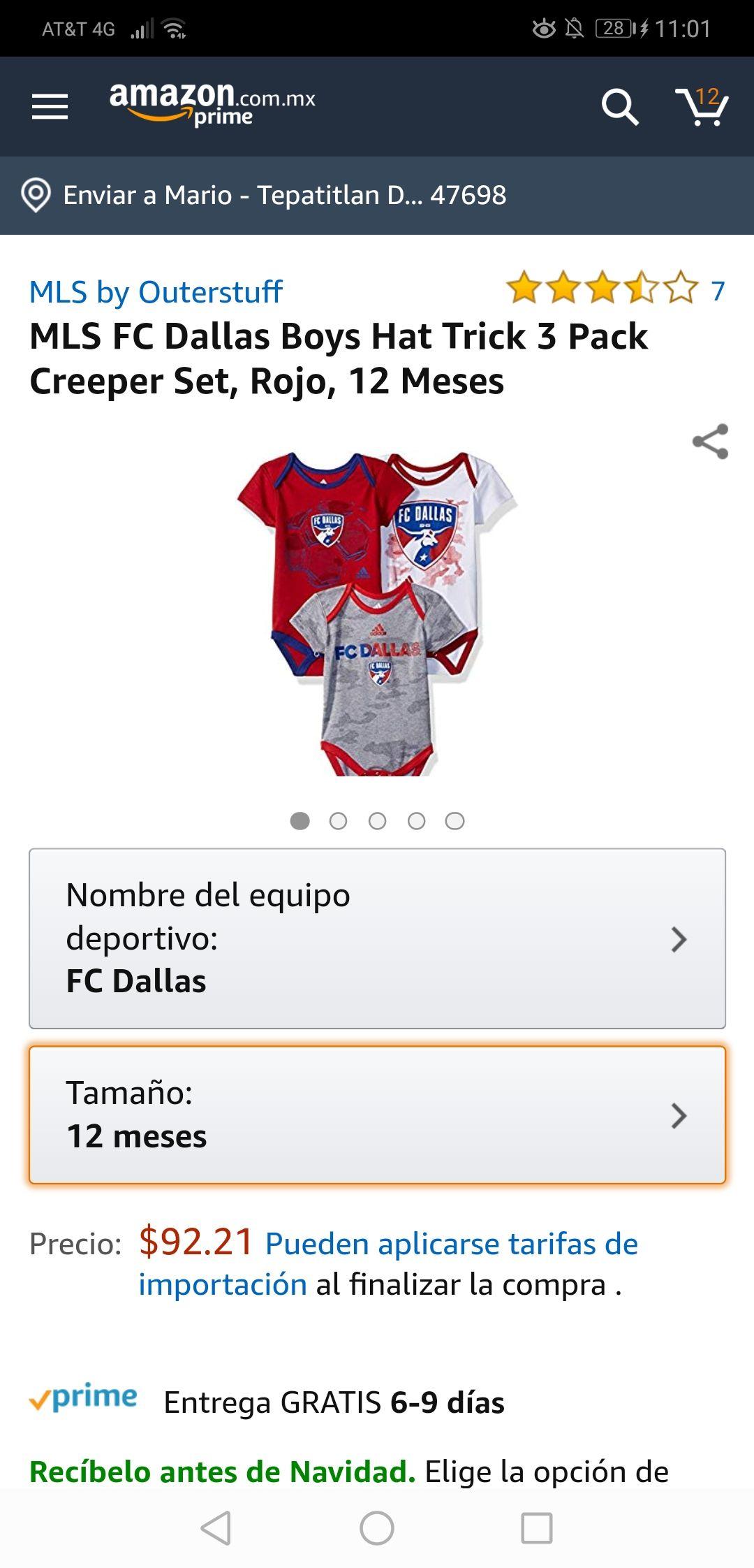 Amazon: Pañaleros Adidas MLS FC Dallas