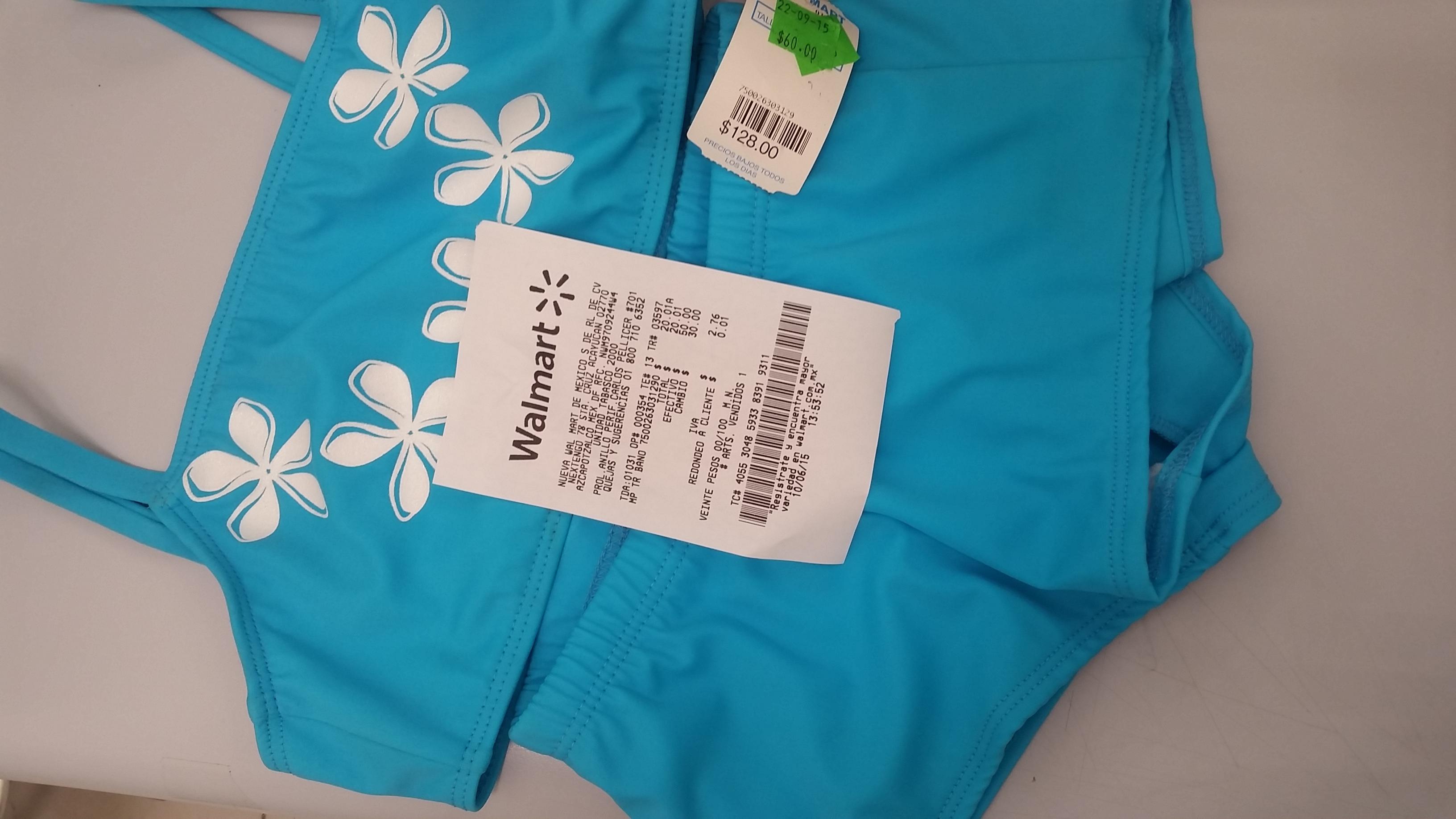Walmart: traje de baño para niña a $20.01 y toallas para cocina a $1.03