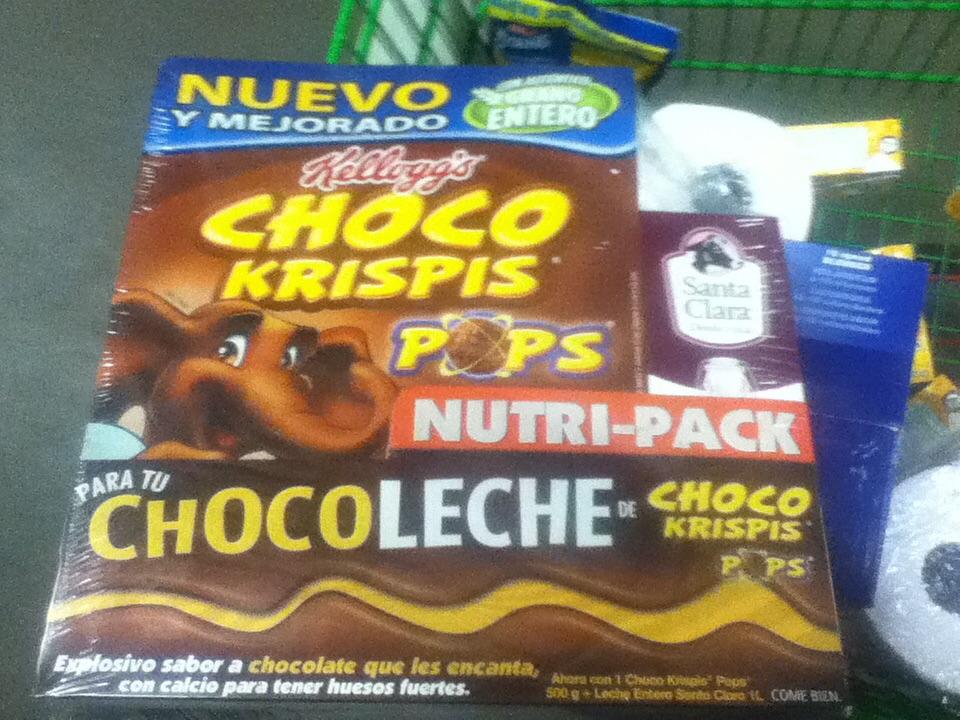 Bodega Aurrerá: Chokokrispis mas leche sta clara de un litro en $38.90