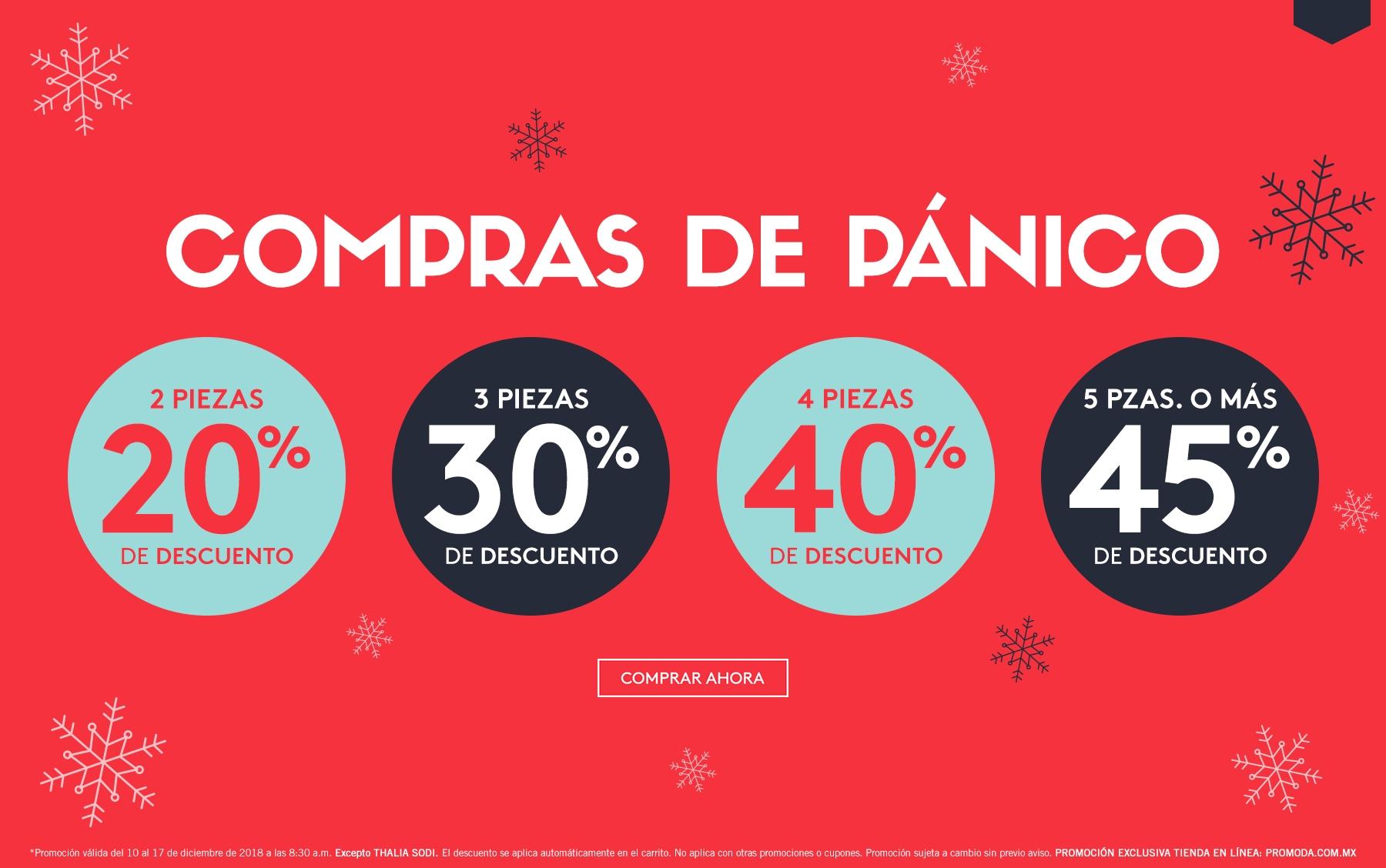 Promoda Outlet: Compras de Pánico: Descuentos Escalonados del 20% al 45% en tienda en línea