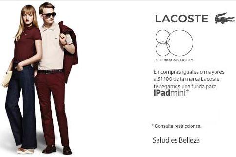 Liverpool: funda de iPad Mini gratis comprando artículos Lacoste