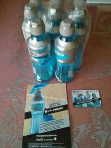 Powerade zero six pack + 2 botellas gratis + 1 mes spotify premium