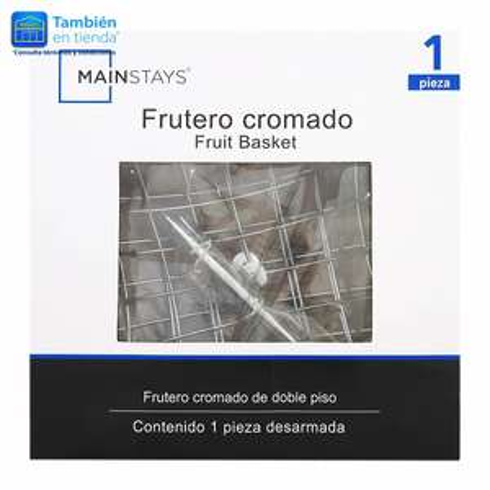 Walmart online: Frutero Mainstays cromado